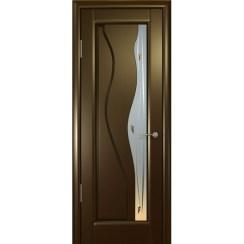 Межкомнатная шпонированная дверь «Гольфстрим Белый» (со стеклом)