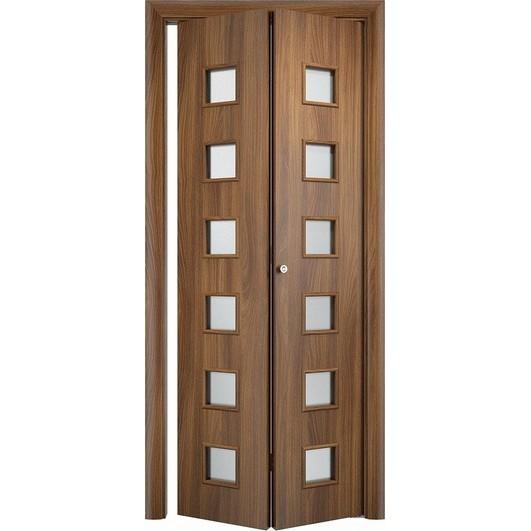 Складная дверь «книжка» C-9 ДО (со стеклом)