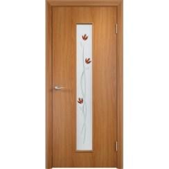 Межкомнатная ламинированная дверь «C-17 Ф Тюльпан» (со стеклом)