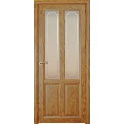 Межкомнатная шпонированная дверь «Optima-4 Рамка» (со стеклом)