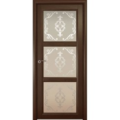 Межкомнатная шпонированная дверь «Optima-3 Ажур» (со стеклом)