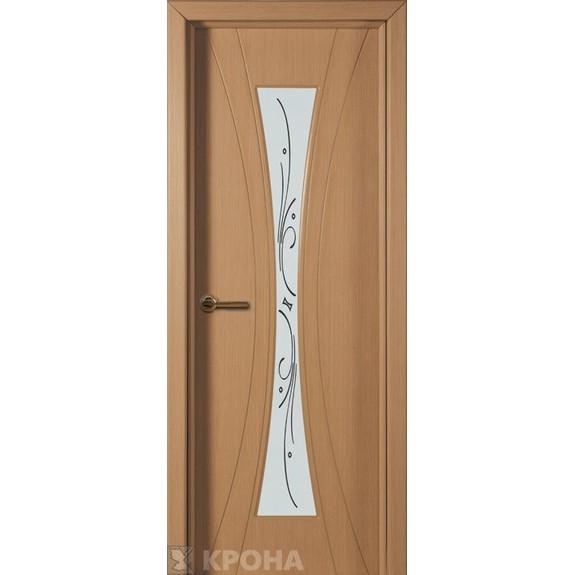 Межкомнатная дверь с натуральным шпоном «Эстет ДО» (со стеклом)