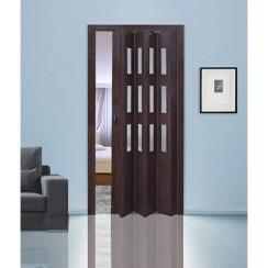 Дверь «гармошка» с витражами