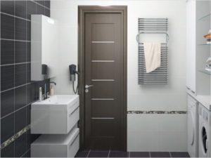 Пластиковая дверь для ванной