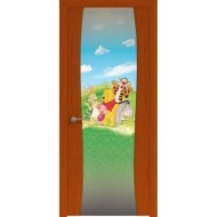 Межкомнатная шпонированная дверь «Буревестник-2 Винни» (со стеклом)