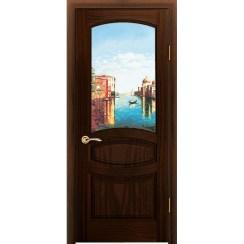 Межкомнатная шпонированная дверь «Изабелла Венеция» (со стеклом)