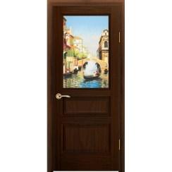 Межкомнатная шпонированная дверь «Марсель Соната» (со стеклом)