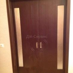 Шпонированная раздвижная дверь «Молния» («пенал»)