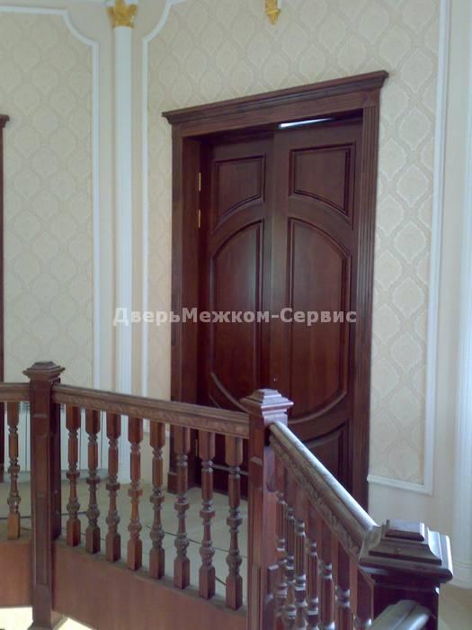 Двустворчатая массивная дверь