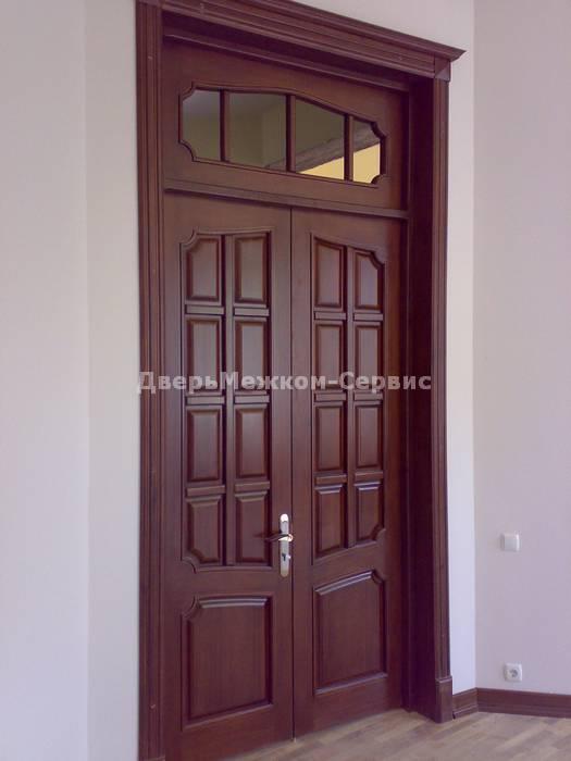Глухая двустворчатая дверь с фрамугой