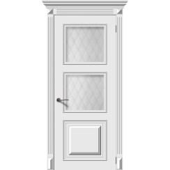 Межкомнатная дверь эмаль «Багет 1» (со стеклом)