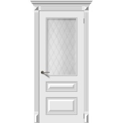 Дверь эмаль Багет 3, со стеклом