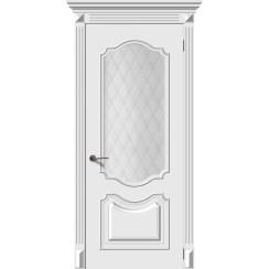 Межкомнатная дверь эмаль «Багет 4» (со стеклом)