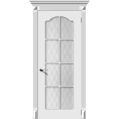 Дверь эмаль Классика, со стеклом