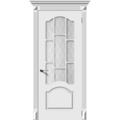 Межкомнатная дверь эмаль «Сюита» (со стеклом)