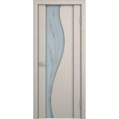 Шпонированная дверь со стеклом триплекс «Ирис