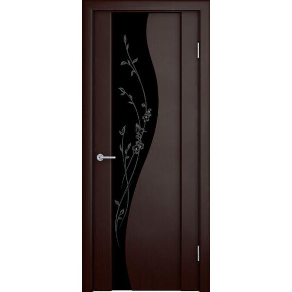Шпонированная дверь со стеклом триплекс «Ирис»