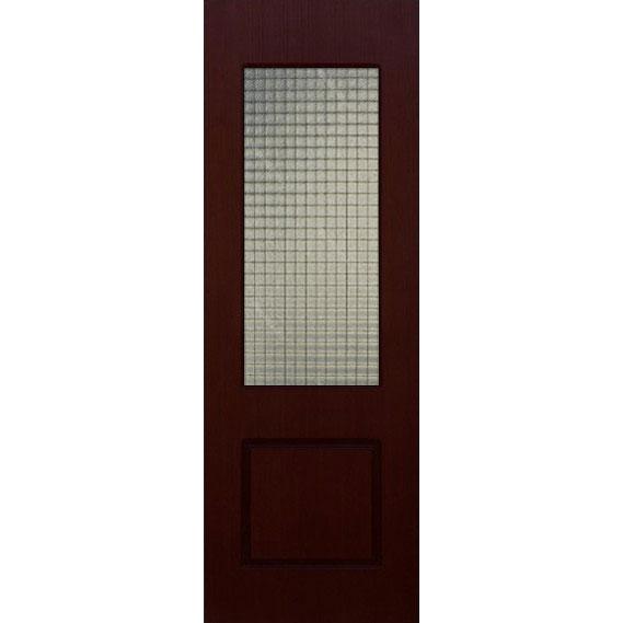 Строительная шпонированная дверь «Марсель» (венге, со стеклом)