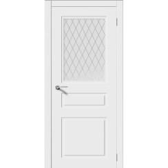 Межкомнатная дверь эмаль неоклассика «Трио-Н» (со стеклом)