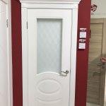 Межкомнатная белая дверь покрытая эмалью