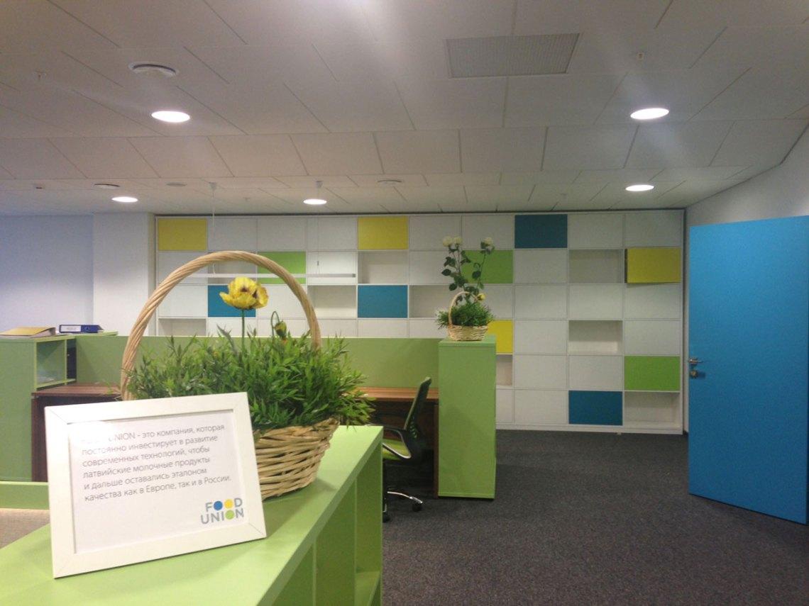 Межкомнатные двери в офисе компании Food Union