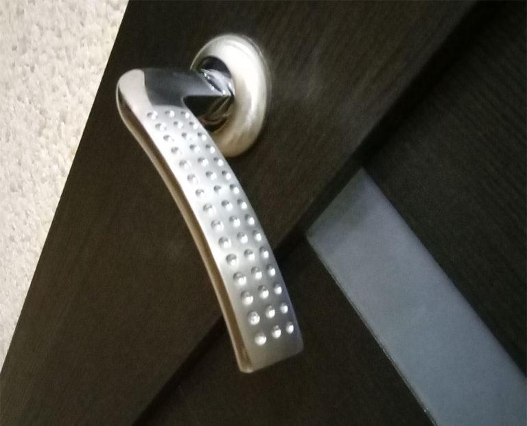 Межкомнатная дверь из экошпона с фурнитурой