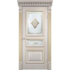 Шпонированная дверь Версаль (со стеклом)