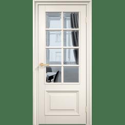Межкомнатная дверь эмаль классика премиум «Англия 8» (со стеклом)