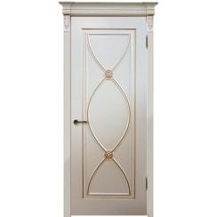 Межкомнатная дверь эмаль классика патина «Фламенко» (глухая)