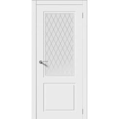 Межкомнатная дверь эмаль неоклассика «Ноктюрн-Н» (со стеклом)