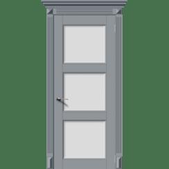 Межкомнатная дверь эмаль классика фреза «Симфония-Н» (со стеклом)
