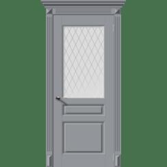 Межкомнатная дверь эмаль классика фреза «Версаль-Н» (со стеклом)