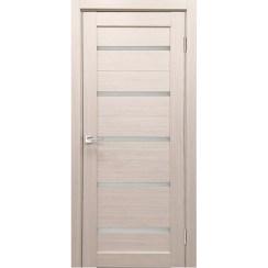 Межкомнатная дверь экошпон Х-3 стекло сатинато