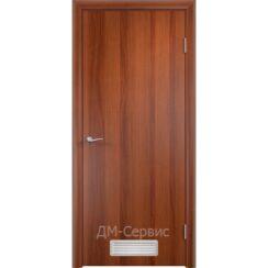 Дверной строительный блок ДПГ с вентиляционной решёткой-1 ПВХ