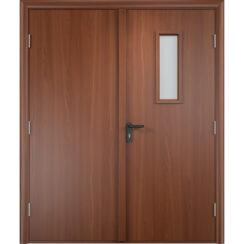 Дверь противопожарная двупольная ДПГ + ДПО ПВХ 30 мин.