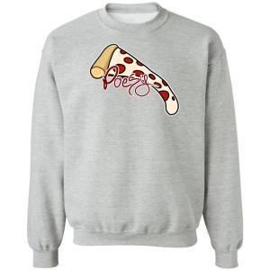 Pizza Poesy Crewneck Pullover Sweatshirt