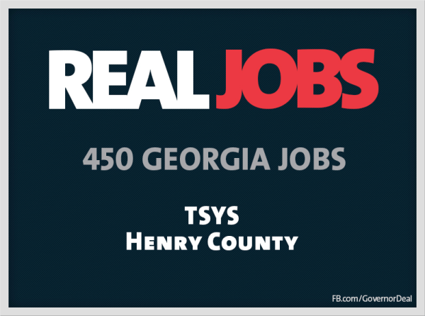 Gov. Nathan Deal: Georgia-based TSYS to Create up to 450 ...