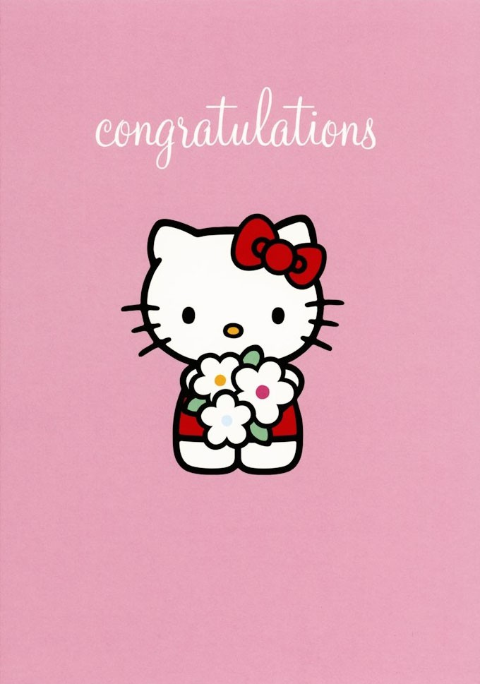 Hello Kitty Greeting Card From Pink Amp Greene