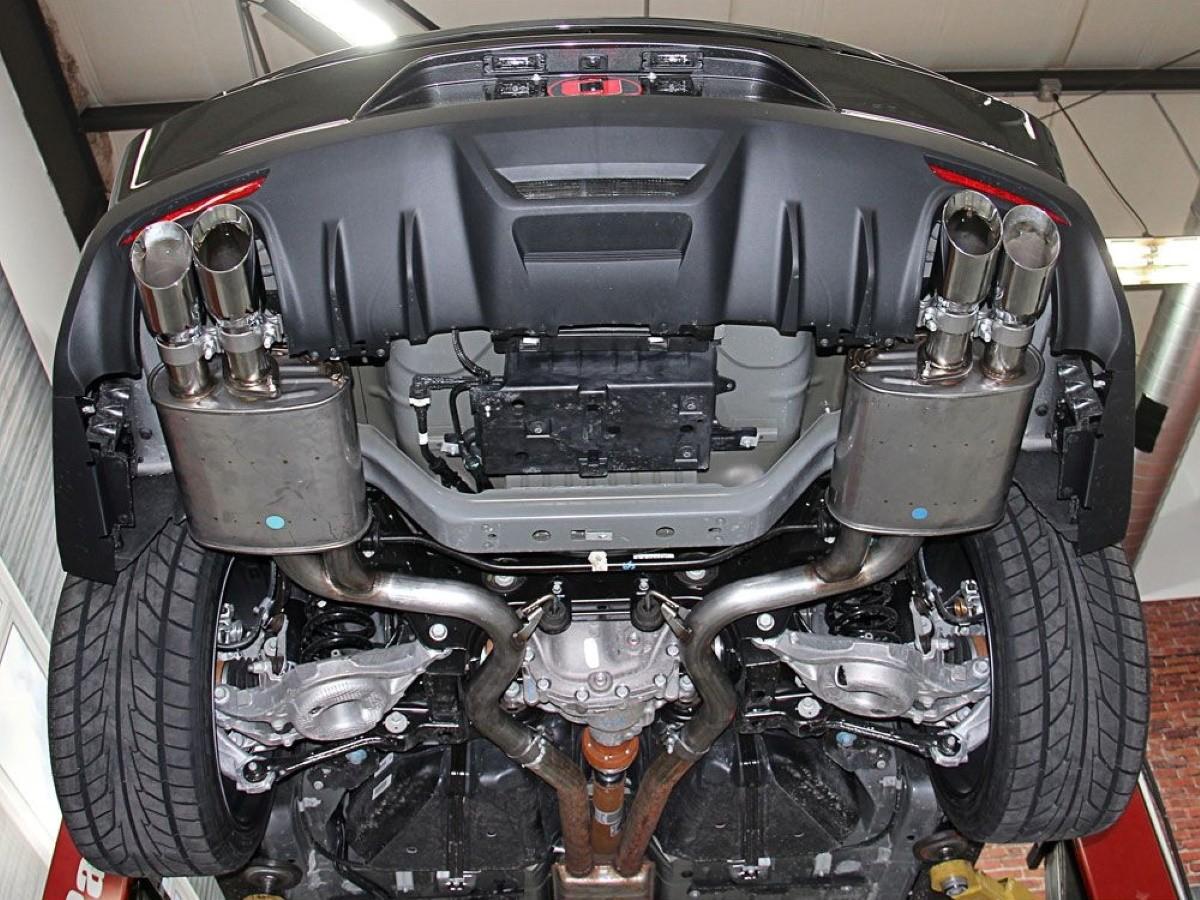 roush performance mustang exhaust kit 5 0l v8 quad tip convertible