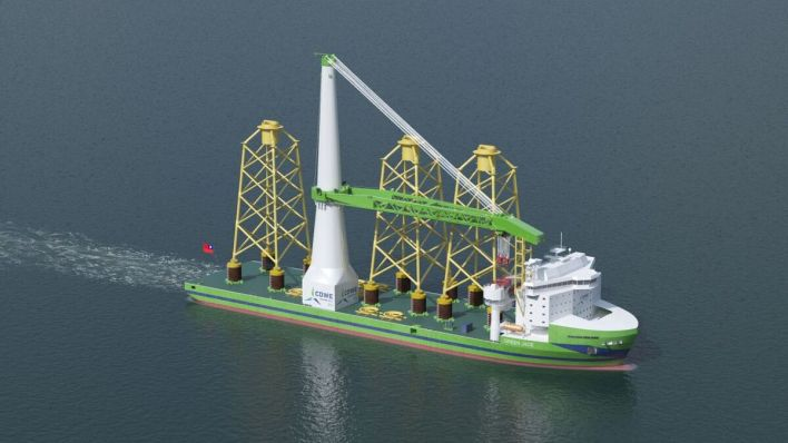 Riviera - News Content Hub - Keel-laying held for Taiwanese offshore installation vessel