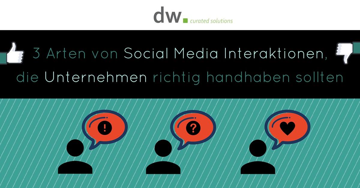 dw curated solutions Social Media Kommunikation B2C