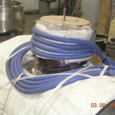 induction preheat welding treatment