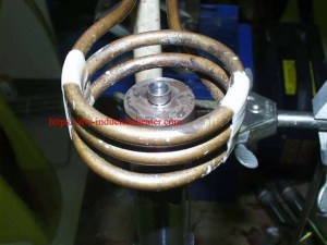 induction brazing carbide to shaft