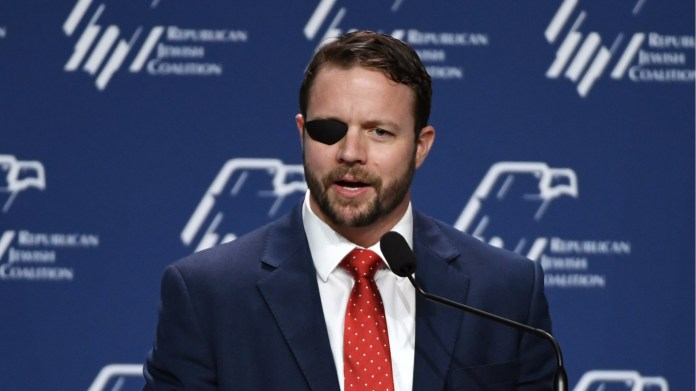 U.S. Rep. Dan Crenshaw (R-TX) speaks at the Republican Jewish Coalition's annual leadership meeting at The Venetian Las Vegas after appearances by U.S. President Donald Trump and Vice President Mike Pence on April 6, 2019 in Las Vegas, Nevada.