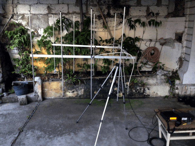 4 Elements Twin Yagi 2m/VHF (Lightweight End Mount)