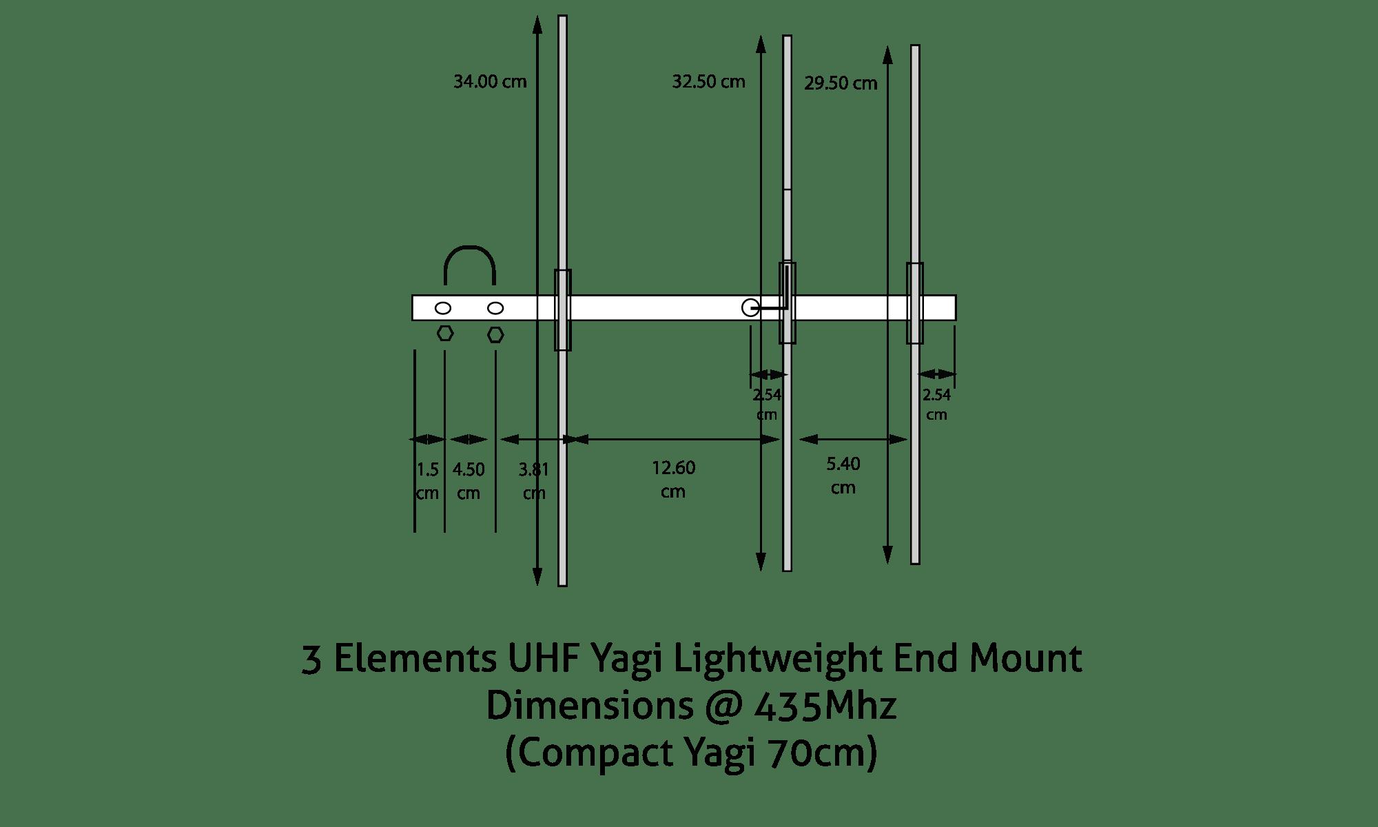 3 Elements Yagi Compact