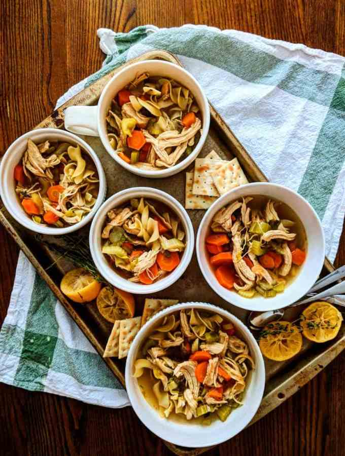Zero point chicken soup, ready to eat