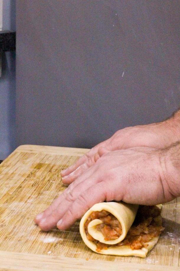 how to make sausage pinwheels