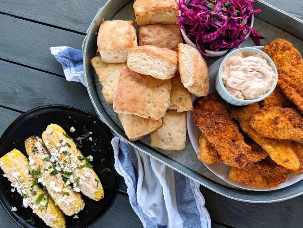 Dwardcooks Chipotle chicken and biscuit platter