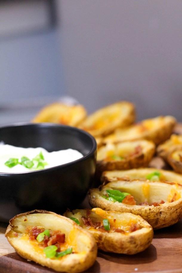 Dwardcooks baked potato skins weight watchers final product